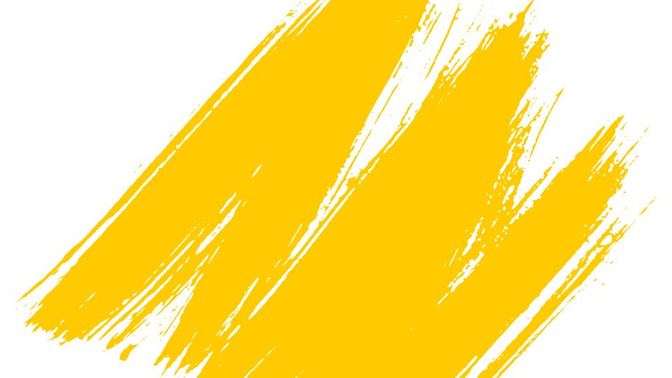The Arc branded yellow brush stroke
