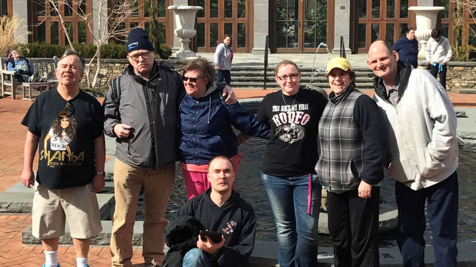 Group of people at the botanic gardens