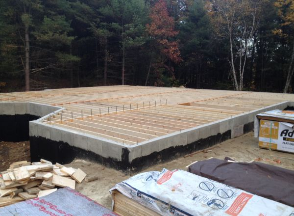Floor joists installation complete.