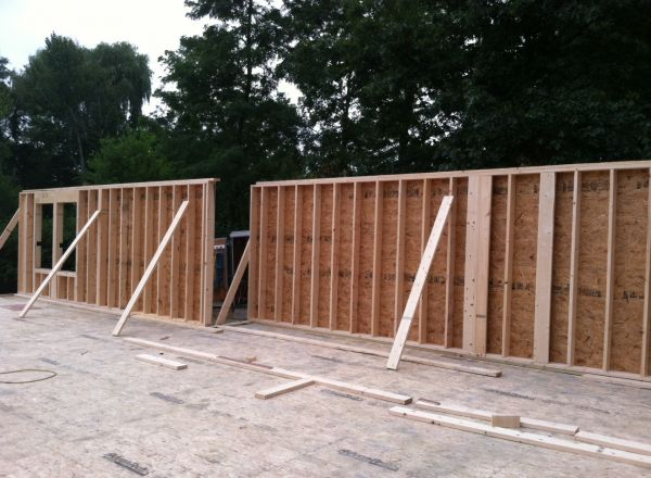 August 30 - The exterior walls are going up!