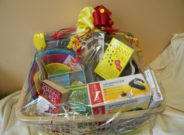 Solve the Mystery of Baking Basket donated by Joan and Judy Driscoll.