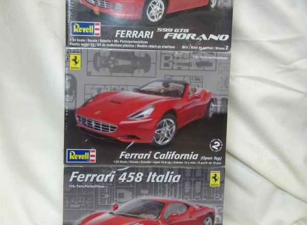 Ferrari Model Kit trio donated by Greg Lewis