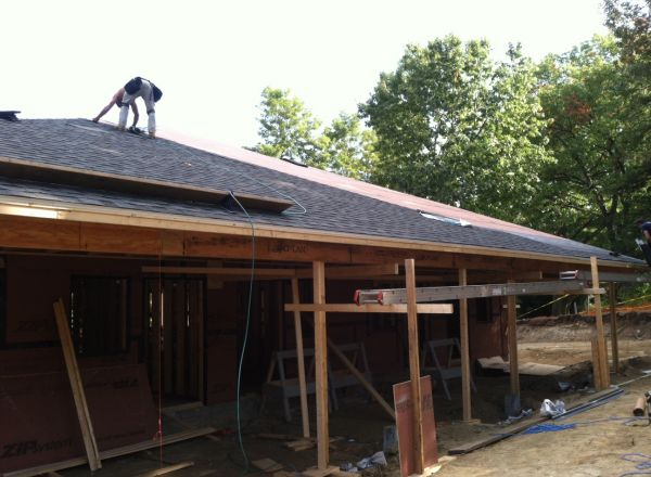 The roof is on at the new group home.