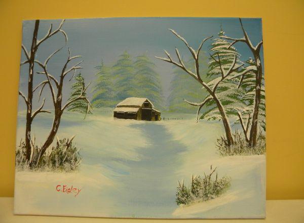 Snow Scene by Carolyn Eisley