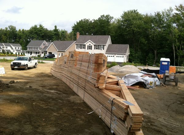 The trusses for the new home have been delivered and will be installed by the end of this week.