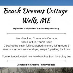 Beach Dreams in Wells, ME