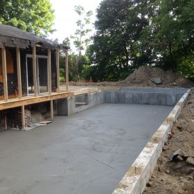 Foundation floor completed