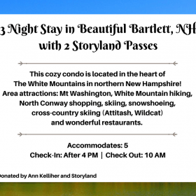 3 night stay in Bartlett, NH with Storyland Passes
