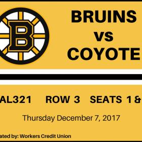 Bruins vs Coyote