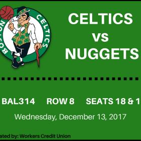 Celtics vs Nuggests