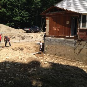 Continuing foundation prep work