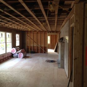 More interior work in the existing structure.