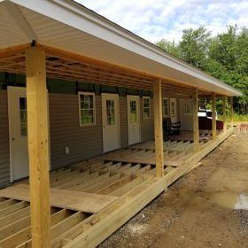 Back Porch Siding Install