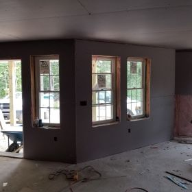 Drywall Install Front Entry