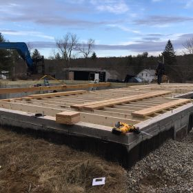 First floor deck framing complete 2.
