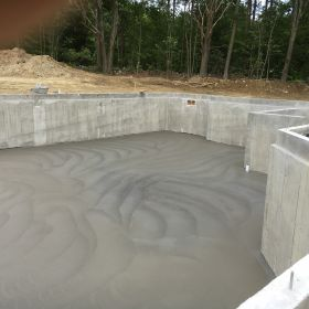 Foundation floor poured.