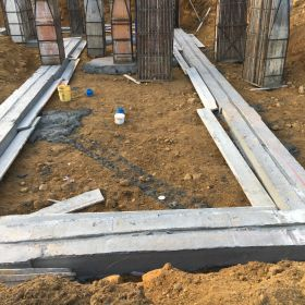 Foundation footings completed.