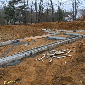 Foundation footings poured.