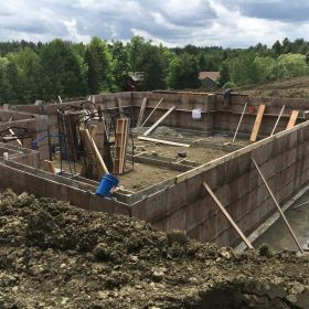 Foundation forms in place 1.