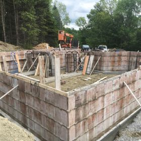 Foundation forms in place 2.