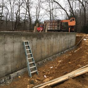 Foundation walls completed (2).