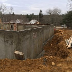 Foundation walls completed.