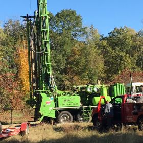Hubbardston site well drilling wide view.