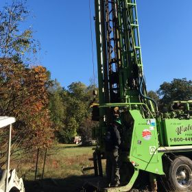 Hubbardston site well drilling close up.