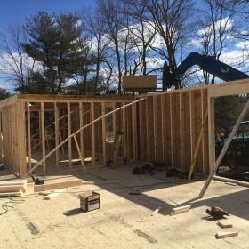 Interior walls going up 3.
