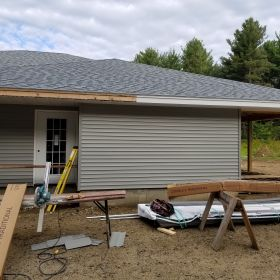 Right Side Door and Siding Installed