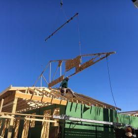 Roof truss installation 1
