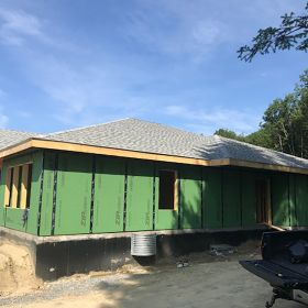 Roof complete side view.