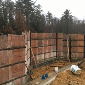 Setting up the foundation wall forms (2).