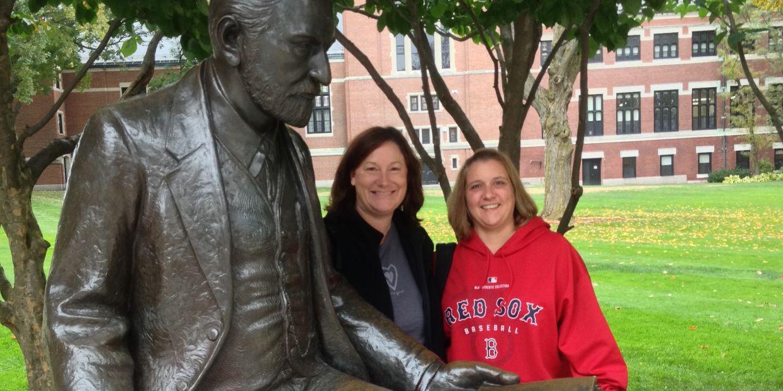 Jen and Michelle at Clark University.